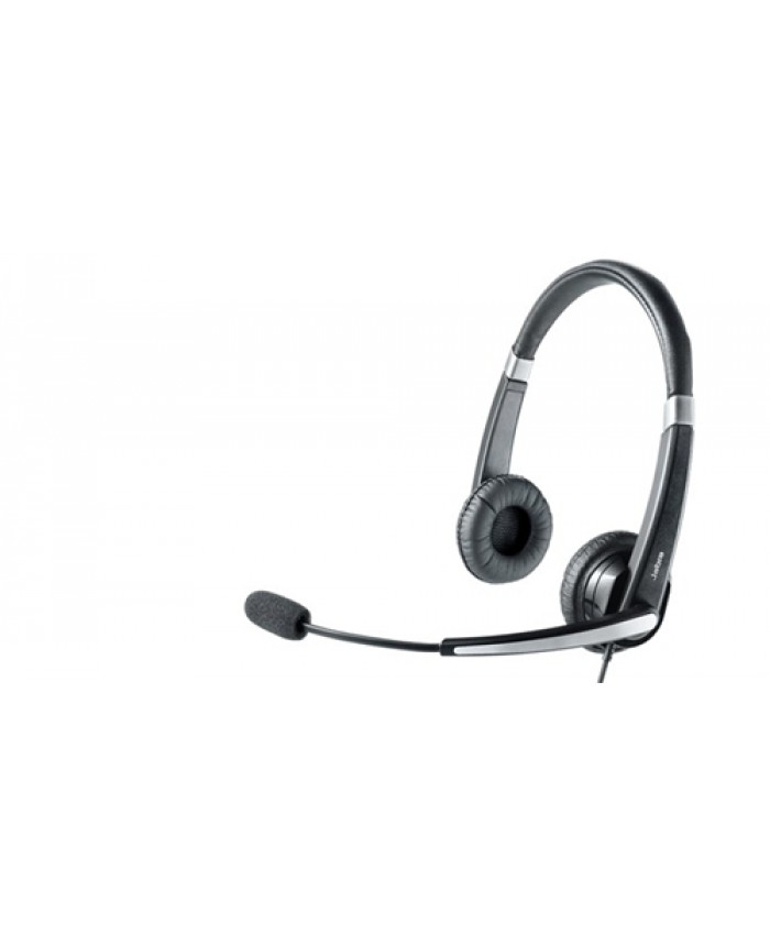 Jabra Voice 550 corded Duo Headset with comfortable headband with soft leatherette padding, adjustable speaker chambers