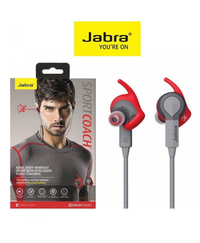 Jabra Sport Coach Bluetooth Headphone Red