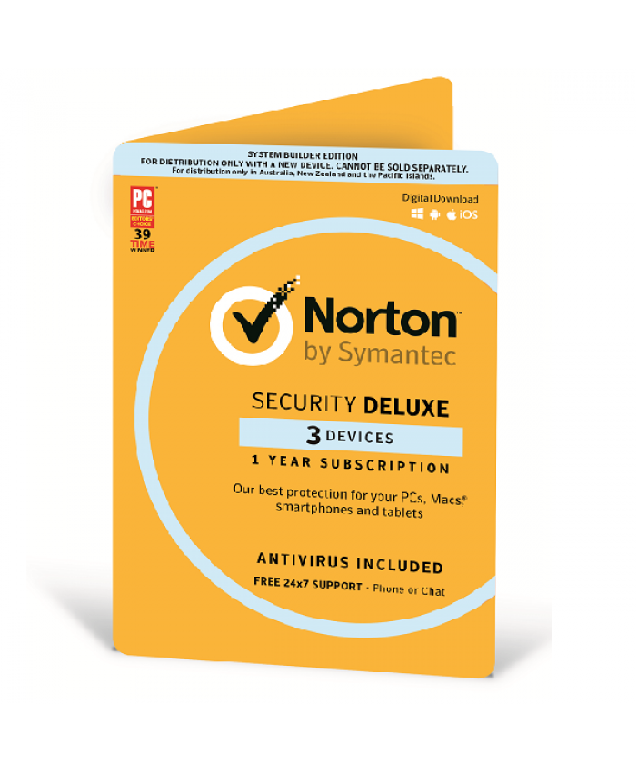 Norton Security Deluxe - 3 license multi device - valid for 12 months