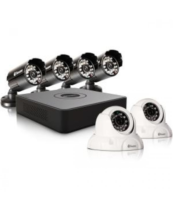 SWANN 8 CHANNEL MINI DVR WITH 500GB HDD / 4 X PRO-615 CAMERAS / 2 X PRO-736 DOME CAMERAS