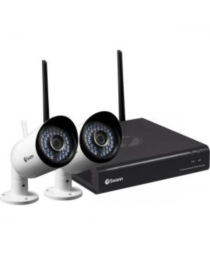 SWANN 1080P WIRELESS MONITORING SYSTEM WITH 2X WIFI CAMERAS